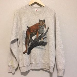 Other - Vintage wild animal mountain lion 90s Sweatshirt